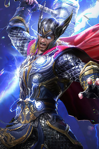640x960 Marvel Duel Thor 4k