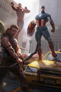 1125x2436 Marvel Heroes 8k