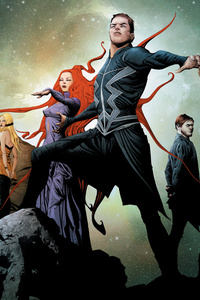 Marvel Inhumans Artwork Poster