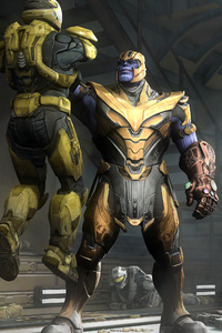 Marvel Thanos And Halo Spartan