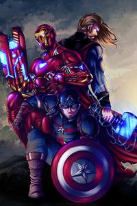 1080x2160 Marvel Trinity