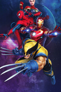 1080x2280 Marvel Ultimate Alliance 3 2019 4k
