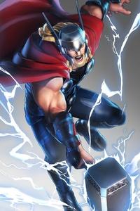 1080x2280 Marvel Ultimate Alliance 3 2019 Thor