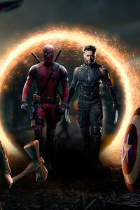 1080x2280 Marvel Welcome Deadpool And Wolverine