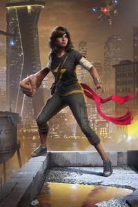 1080x2160 Marvels Avengers Kamala Khan