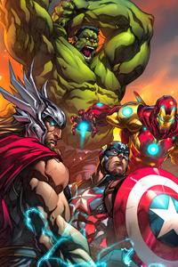 320x568 Marvels Avengers Tribune Magazine Cover Art 5k