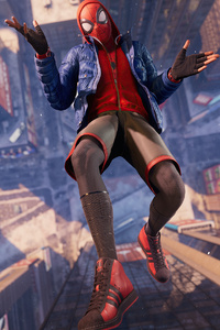 1242x2688 Marvels Spider Man Miles Morales Playstation 5 4k