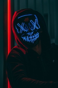 320x480 Mask Anonymous Hoodie Guy 5k