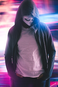 640x1136 Mask Anonymus Hood
