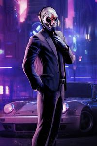 800x1280 Mask Cyberpunk Boy