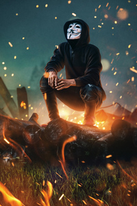 540x960 Mask Guy Anonymus 4k