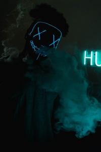 Mask Guy Hustle Neon Concept 5k