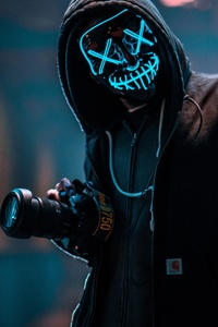 1080x1920 Mask Guy With Dslr