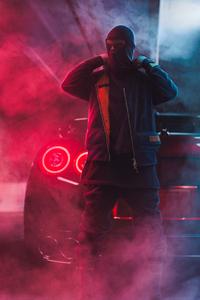 Mask Man Red Smoke