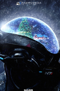 Mass Effect Andromeda 4k Christmas Artwork