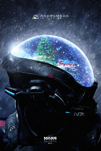 Mass Effect Andromeda Christmas 4k