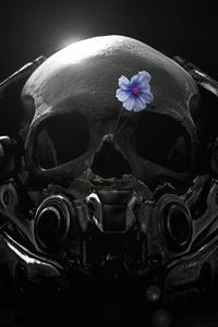 Mass Effect Andromeda Skull Flower Fanart 4k