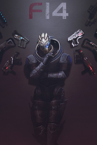 320x568 Mass Effect Garrus Heartbreaker 8k
