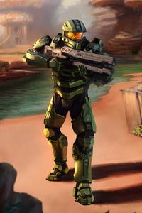 Master Chief Halo Artwork 4k 5k