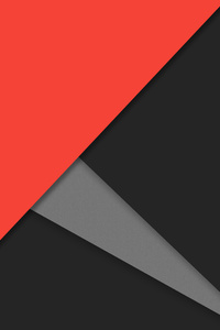 Material Design Dark Orange 4k