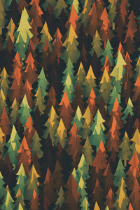 800x1280 Material Design Forest