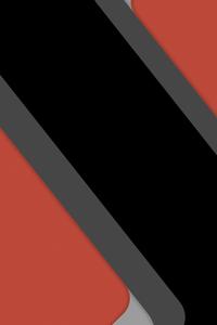 360x640 Material Design Orange Abstract 8k