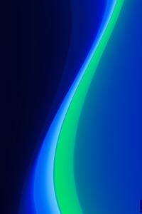 1080x2160 Material Light Colour Waves 4k