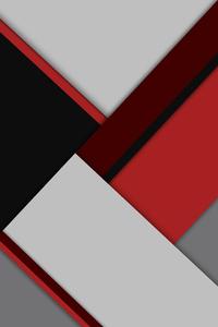 360x640 Material Red Grey 8k