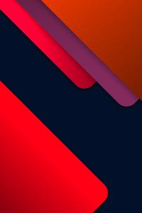 1125x2436 Material Red Orange Colors 8k