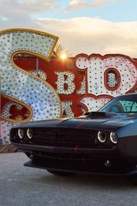 Matte Black Dodge Challenger