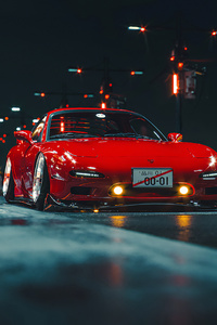 640x1136 Mazda Rx 7 Digital Art 4k