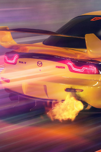 Mazda Rx7 Flaming Out