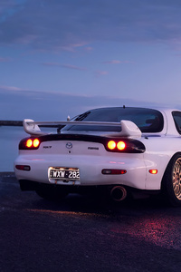 1125x2436 Mazda Rx7 Golden Alloys 4k