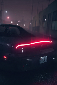 Mazda Rx7 Need For Speed Rain 4k