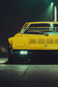1440x2960 Mazda Rx7 Yellow 5k