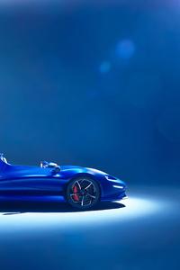 320x568 Mclaren 4k Blue