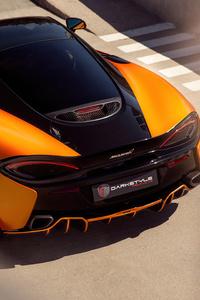 640x1136 McLaren 570s Orange Black