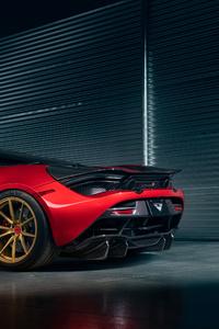 1080x2160 McLaren 720s Vorsteiner Rear