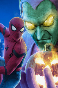 MCU Spiderman Giant Green Goblin