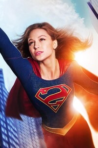1125x2436 Melissa Benoist Supergirl