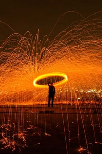 Men Magic Burn Fire Sparkles Sparks