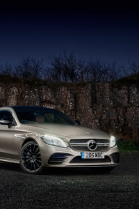 640x1136 Mercedes AMG C 43 4MATIC Coupe 2018