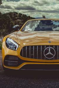 480x800 Mercedes Amg Gt Roadster 2018