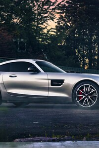 640x1136 Mercedes Benz Amg Silver