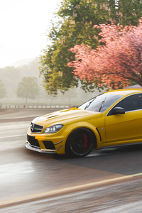 480x800 Mercedes Benz C63 AMG Coupe In Forza Horizon 4 4k