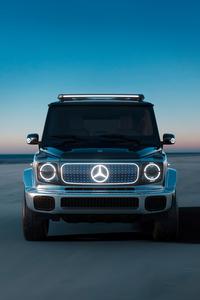 320x480 Mercedes Benz Concept EQG Front Look 4k