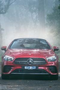 1242x2688 Mercedes Benz E 300 AMG Line Coupe 4k