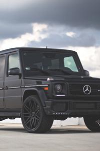 640x960 Mercedes Benz G Class G63 Black 4k