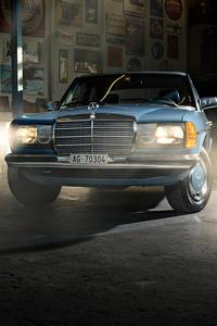 1080x2280 Mercedes Benz W123 5k