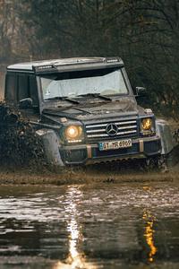 480x800 Mercedes G500 4x4 Offroading 5k